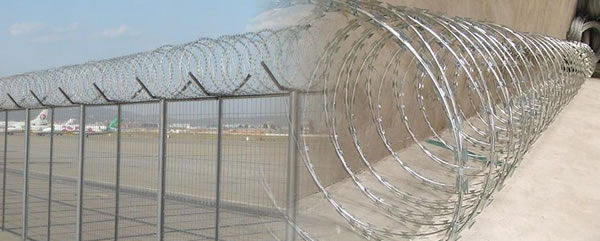 Concertina Wire with Short Razor Type Barbs