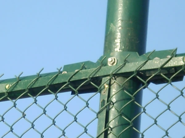 Chain Link Fence Galvanized and PVC Coated Green